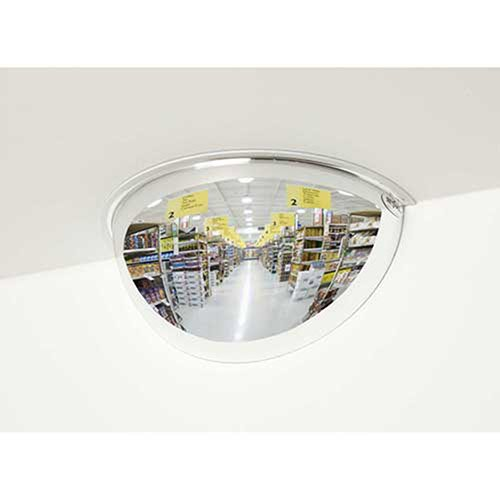 180-Degree Steel Half Dome Mirror - Indoor, 12
