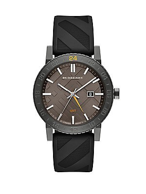 Burberry The New City GMT Unisex Watch - Grey Stainless - For New Burberry Men