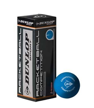 Dunlop Racketball Competition Low Bounce Official Squash Match Ball by Dunlop by Dunlop