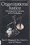 img - for Organizational Justice: The Search for Fairness in the Workplace (Issues in Organization and Management Series) book / textbook / text book