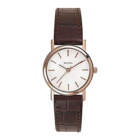 Bulova Women's 98V31 Stainless Steel Watch With Brown Leather (Pelle Bulova Brown Delle Donne)