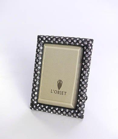Noir Oxidized Platinum Rectangular Frame - 2x3