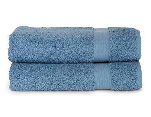 TowelSelections Sunshine Collection Soft Towels 100% Turkish Cotton 2 Bath Towels Allure Blue