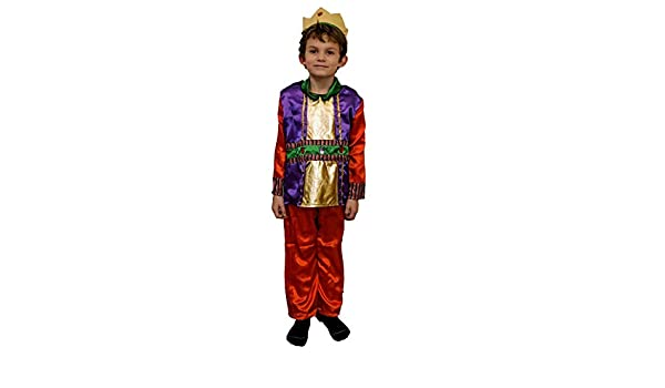 Disfraz Rey Mago Baltasar Melchor Gaspar Navidad Talla 4-6 ...