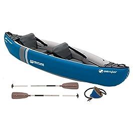 Sevylor Kayak Gonflable Adventure, Canoë Canadien 2 Places, Kayak de Mer, 314 x 88 cm