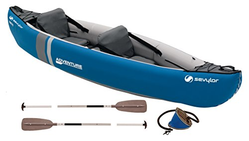 Sevylor canoe inflatable Adventure Kit 2Person Canadian Folding Kayak...