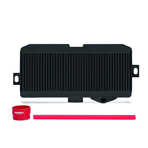 Mishimoto MMTMIC-STI-08BKRD Subaru WRX STI Performance Top-Mount Intercooler Kit Black Cooler Red Hoses, 2008-2014