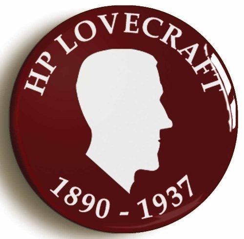 Hp Lovecraft 1890-1937 Silhouette Button Pin (Size, used for sale  Delivered anywhere in USA