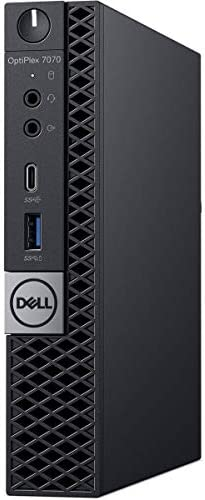 Dell OptiPlex 7070 Desktop Computer - Intel Core i7-9700T - 16GB RAM - 256GB SSD - Micro PC