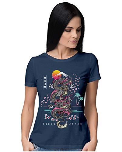 Heybroh Women's Regular Fit T-Shirt Tokyo Japan 100% Cotton T-Shirt