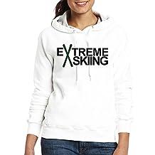 Jozie Women's Sweatshirt SKIING SKI Extreme Powder Snow Mountain Wint White