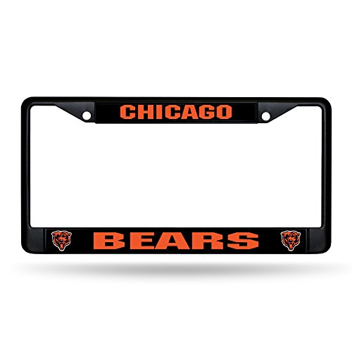 Rico Chicago Bears NFL Black Metal License Plate Frame (License Nfl Chicago Bears Plate)