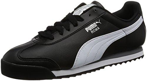 Puma Herren Roma Chaussures De Base Schwarz (argent Noir-blanc-puma 11)