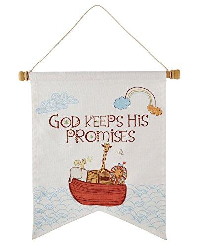 Ark Canvas - Faithworks Noah's Ark Canvas Wall Banner 14 x 17,