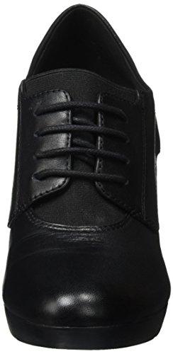 Geox D Inspiration Plateau D, Zapatos de Tacón para Mujer Negro (Black)