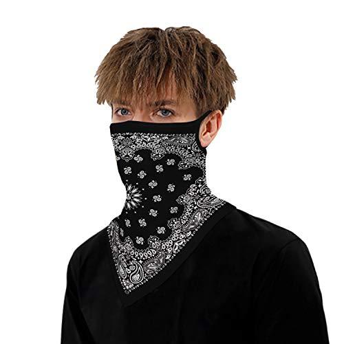 VICHYIE Neck Gaiter Bandana Face Mask Reusable Washable Cloth Ear Loops Men Women Balaclava Sun Dust Wind