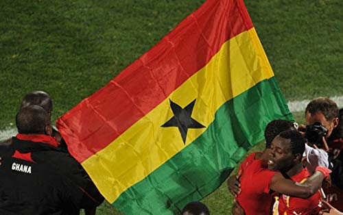 (Value-Smart-Toys - World Cup The Ghana Flag Polyester Flag 5x3 FT 150x90 CM Hanging and Flying)