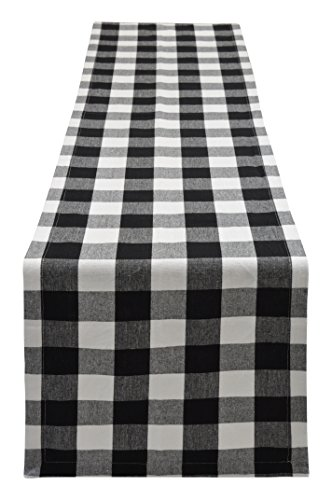 Yourtablecloth Buffalo Plaid Checkered Table Runner Trendy &