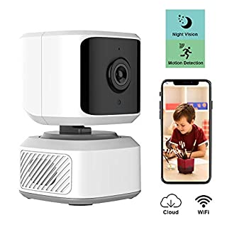 WiFi Indoor Camera,1080P FHD Wireless Dog Pet Camera Baby Monitor with Phone App,Pan/Tilt/Zoom IP Dome Camera,Night Vision Nanny Cam,Motion Detection,2-Way Audio Cloud Service Available
