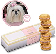 Natural Dog Treats | Dog Macarons Luxury Handmade in The USA | Dog Birthday Healthy and Delicious Gourmet Dog