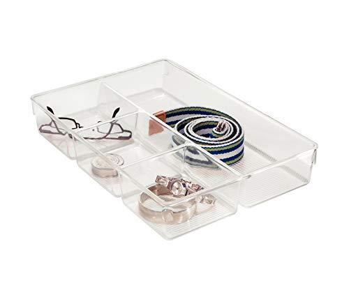 Suporte Cozinha/Banheiro com 4 Compartimentos de Plástico Interdesign Multicor