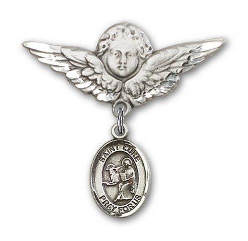 Icecarats Créatrice De Bijoux En Argent Sterling St. Luke Le Charme Ange Apôtre Broche De Badge 1 1/8 X 1 1/8