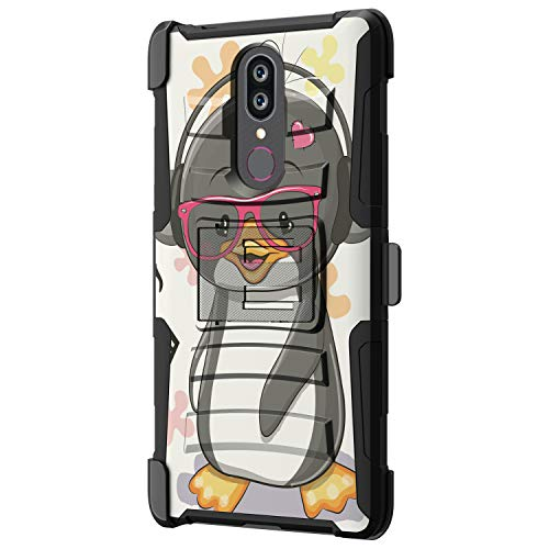 TurtleArmor   Compatible for Coolpad Alchemy Case   Coolpad Legacy Case [Hyper Shock] Hybrid Reinforced Dual Layer Case Belt Clip Holster Stand Sea Ocean - Cute Penguin (Cases Boost Htc Mobile Phone For)
