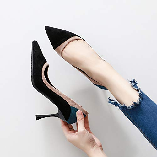 Yukun Single Pointed Girl Shoes Heel Female High Small Shoes High heels Black Heels Cat Fresh Autumn Wild Stiletto 1UxqrRUw