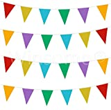 Winsome 33 Feet Long 20 Flags Multi Colour PVC Plastic Bunting Banner Pennant Double Sided For Birthday Party Event Sporting Game Decoration