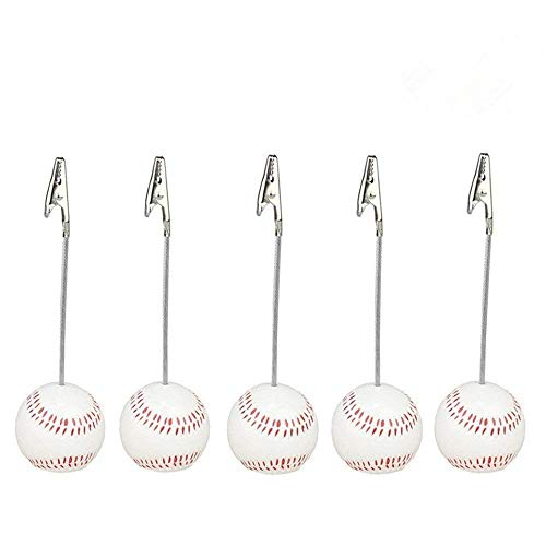 (Home Office Baseball Shaped Note Paper Memo Clip Table Number Holder Name Place Card Holder Memo Clip Holder)