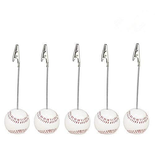 Baseball Memo Holder - Home Office Baseball Shaped Note Paper Memo Clip Table Number Holder Name Place Card Holder Memo Clip Holder Stand