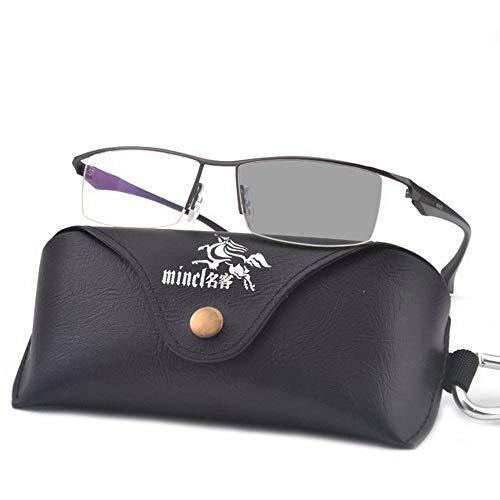 MINCL 100 Sun lente diseño de moda lectura negocios fotocromáticas ópticas HD para hombres Gafas transparente de 300 de FpcWaFU