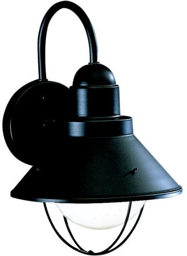 Kichler 9022BK Seaside Outdoor Wall 1-Light, Black ()