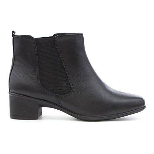 Heel Negro Block Black Womens Leather Gluv Boot Chelsea qHBtgSw
