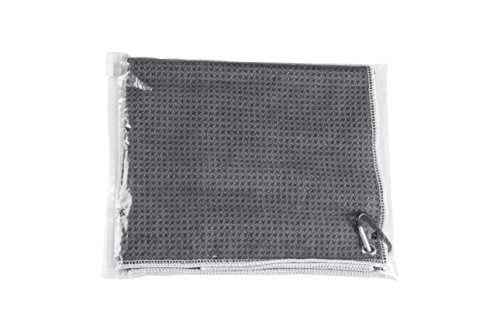 Microfiber Deep Waffle Weave Golf Towel 2 pack,Light Weight & Quick Drying. Best for Cleaning all types of Clubs, Irons & Drivers.(Blue & Gray 16''x21'') by DVlente (Image #2)
