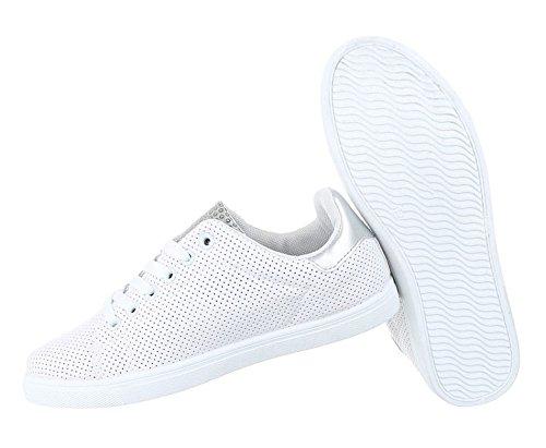 Damen Freizeitschuhe Schuhe Sneakers Sportschuhe Turnschuhe Sportschuhe Modell NR1 Weiß