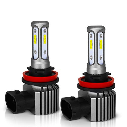 - MAXGTRS High Power 100W Three-Sided Beam H8 LED Fog Light 3570 Chips H9/H11/H16JP Error Free CANBUS LED Fog Blubs - Extremely Bright 6000K Xenon White LED Fog Lamp