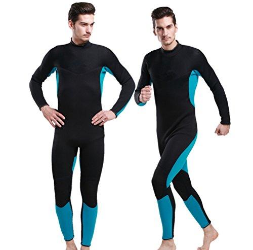 XDXART Men's Wetsuits Jumpsuit Neoprene 3mm Full Body Diving Snorkeling Suit (M) ()