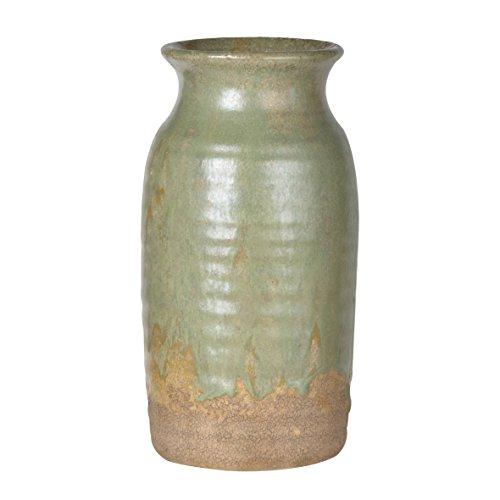 - A&B Home Surry Ceramic Vase, Pale Green