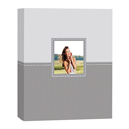 "UPC 074496811976, KVD Kleer-Vu Deluxe Albums Inc. Decor Collection, Magnetic pages, 80 pages, 8""x11"" Window frame on front cover, Grey"