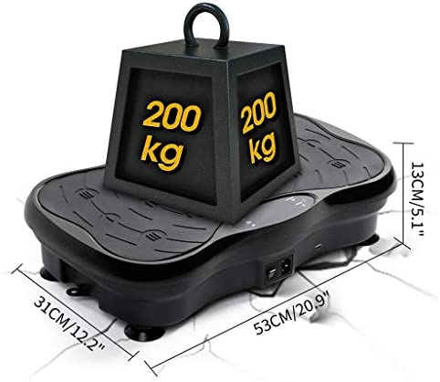Vibration Plate Exercise Machine - Whole Body Plate Platform Massager Music Workout Vibration Fitness Platform w/Loop Bands - Home Training Equipment for Weight Loss & Toning 5