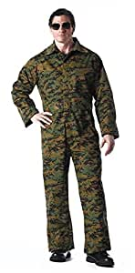 2x- Unlined Coverall - Woodland Digital Camo
