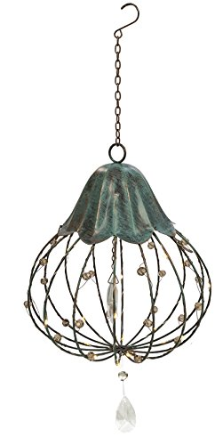 Crystal Hanging Light Medium By Grasslands Road Includes Hook and Chain Battery -