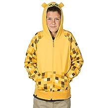 Minecraft Ocelot Youth Yellow Premium Zip-Up Hoodie, Large
