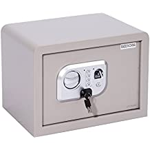 "HomCom 14"" x 10"" x 10"" Digital Home Security Storage Safe w/ Biometric Fingerprint Scanner - Grey"