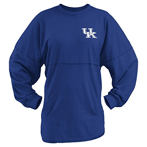 Three Square by Royce Apparel NCAA Kentucky Wildcats Junior's Coastal Sweeper Jersey, Royal, Small