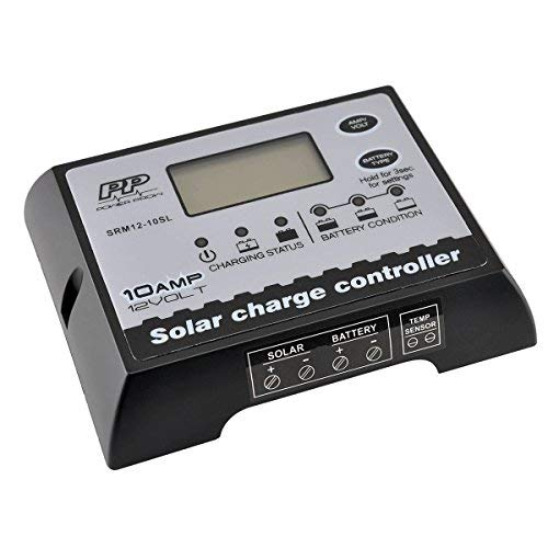 POWERPROW(TM Solar Panel Charge Controller/Regulator Waterproof 12V 10A PWM Solar Battery Chargers with LCD Display