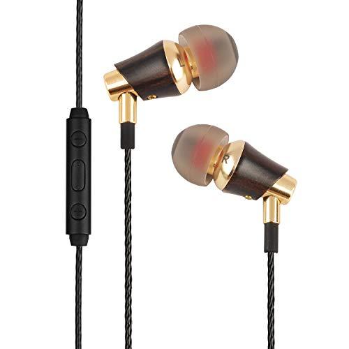 SIVGA M005 Premium Genuine Wood in-Ear Earbud Hi-Fi Earbud Noise-isolating Stereo Earphone with Microphone