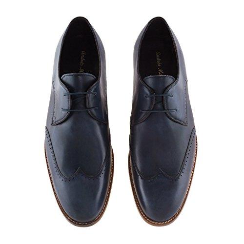 Cuir En Andres 37 Pointures petites Machado Pour made Oxford Spain 40 6394 Pointures Bleu Du grandes chaussures 46 In 50 Au Homme XxPXrIq