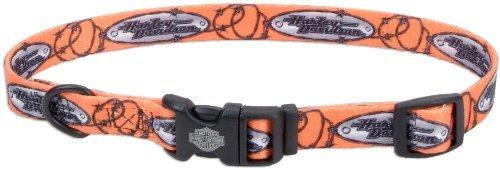 "Harley Davidson L dog pet collar H6921 26"" 69227 Nylon"